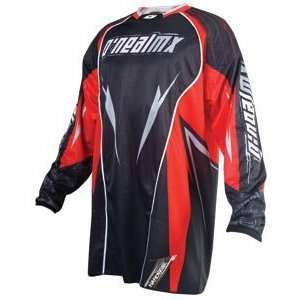 Oneal 08 Hardwear Black Red MX Riding Jersey (SizeS