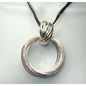 Silvertone Rings Fashion Jewelry Multistrand Pendant Necklace 16 19
