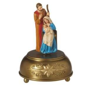 of 2 Traditional Holy Family Nativity Music Box Table Top Piece 8