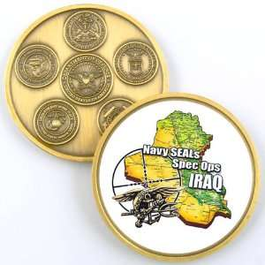 NAVY SEALS IRAQ PHOTO CHALLENGE COIN YP590 Everything