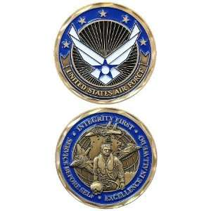 United States Military US Armed Forces Air Force Wing Crest and Pilot