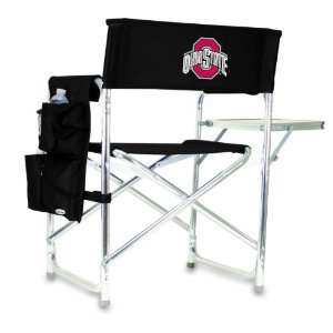 NCAA Ohio State Buckeyes Portable Folding Sports Chair (Black)