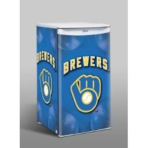 Milwaukee Brewers Counter Top Refrigerator Sports & Outdoors