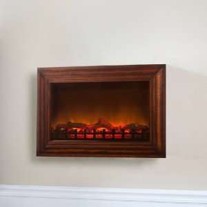 Wood Wall Mounted Electric Fireplace Patio, Lawn & Garden