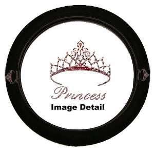 Pink Princess w/ Cute Crown Gem Crystal Studded Rhinestone