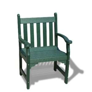 V1226 G Outdoor Recycled Plastic Armchair, Green Patio, Lawn & Garden