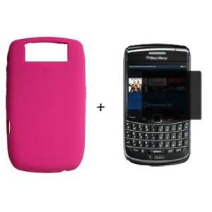 BOLD 8900 HOT PINK SILICONE SKIN CASE *PLUS* PRIVACY SCREEN PROTECTOR