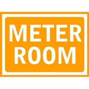 Meter Room Sign Removable Wall Sticker