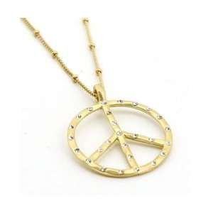 Fashion Jewelry Desinger Inspired Gold Peace Necklace