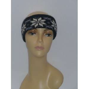 Winter Headband Women Men Snow Flake Ski Headband Knit