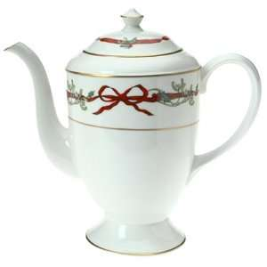 Royal Worcester Holly Ribbons Coffee Pot and Cover