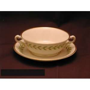 Syracuse Greenwood Cream Soup Bowls & Liners Kitchen