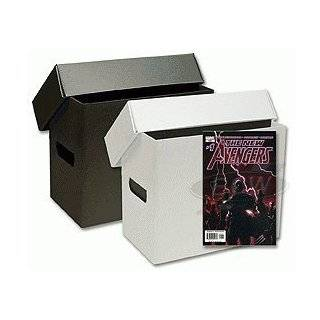 10 Short Plastic Comic Book Storage Boxes   Black
