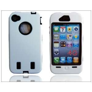 Defender Hard Case Silicone for Apple iPhone 4 4G White
