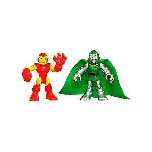 Marvel Super Hero Adventures Mini Figure 2Pack Iron Man Dr