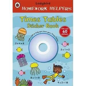 Ladybird Homework Helpers: Times Tables Sticker Book