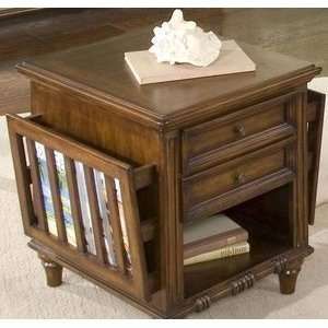 Tides Bungalow Brown End Table w/ Storage   Aico 86202 36
