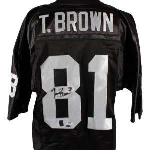 Tim Brown Signed Jersey   PSA/DNA & Brown Holo