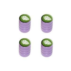 Hops   Bud   Tire Rim Wheel Valve Stem Caps   Purple Automotive