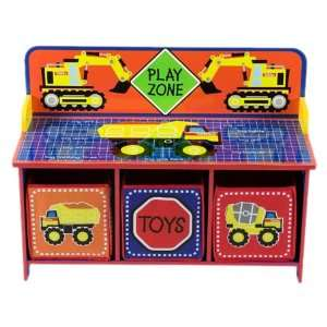 Tonka Toy Box with Back and 3 Bins: Toys & Games