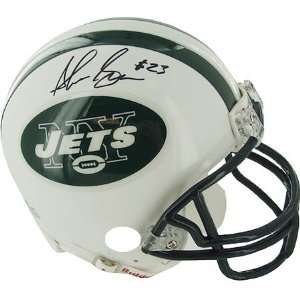 Shonn Greene Signed Jets Football Helmet Mini Sports Collectibles