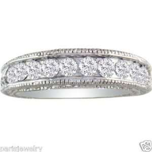 White Gold 1Ct Genuine Diamond Antique Style Paris Jewelry Jewelry