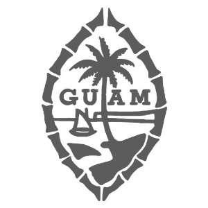Guam DARK GREY Vinyl window decal sticker