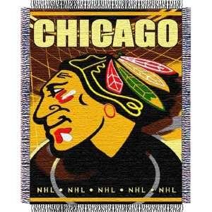 Chicago Blackhawks NHL Woven Jacquard Throw  Sports