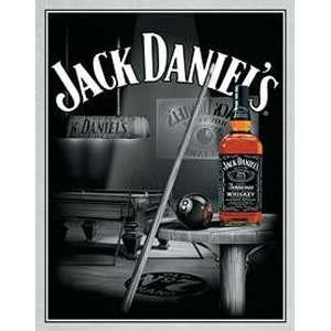 Jack Daniels Whiskey Pool Room Metal Tin Sign Nostalgic