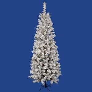 40 Flocked Pacific Pencil Christmas Tree w/ 606T 385 LED