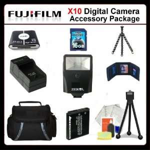 Fujifilm X10 Accessory Package Includes Extended Life Battery, Rapid