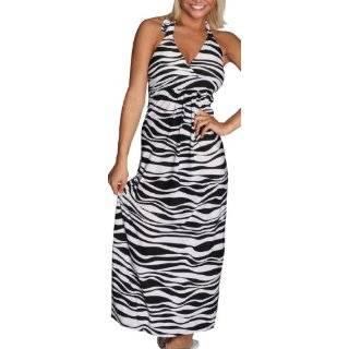 Jessica Simpson Womens Zebra Print Dress with Pockets Clothing
