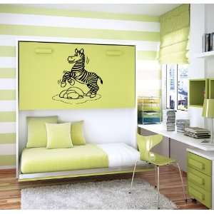 Funny Cartoon Zebra Baby Room Nursery Wall Vinyl Sticker