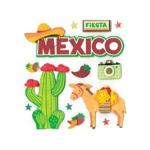 Company Sticker Dimensional Viva Mexico (Pack of 3) Everything Else