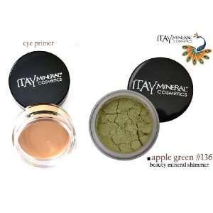 Eye Primer + 100% Natural Eye Shadow Color #136 Apple Green Beauty