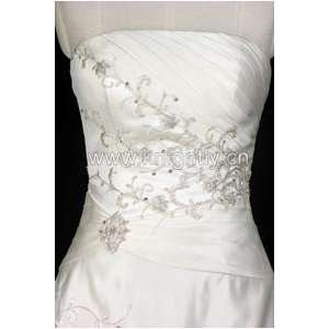 Wedding Dress Gown   Beaded Embroidery & Pleat Bridal Gown Everything