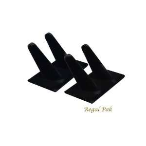 Regal Pak Two Piece Black Velvet 2 Finger Ring Stand 4X 2