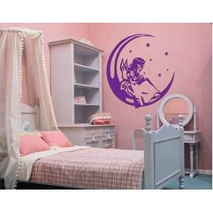 Angel on the Moon   Vinyl Wall Decal