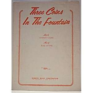 Sheet Music: Three Coins in the Fountain (Music and Lyrics
