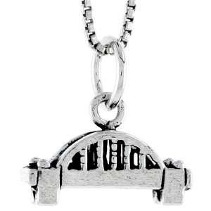 925 Sterling Silver Bridge Pendant (w/ 18 Silver Chain