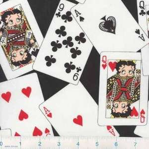 45 Wide Betty Boop Queen of the Pack Black Fabric By The