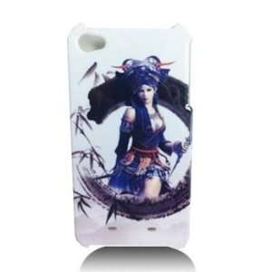 iPhone 4 Designed Fantasy Lady Blue HARD Protector Case