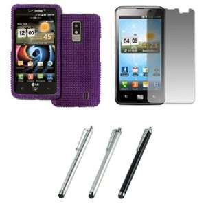 EMPIRE LG Spectrum VS920 Full Diamond Bling Design Case Cover (Purple
