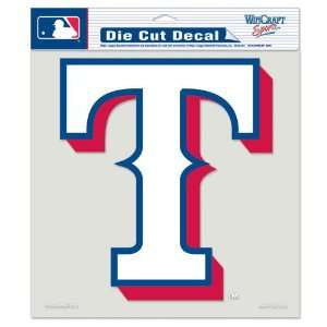 Texas Rangers Logo Die Cut Decal 8 x 8 (Colored) Sports