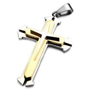 316L Stainless Steel Spirit Cross Pendant Necklace