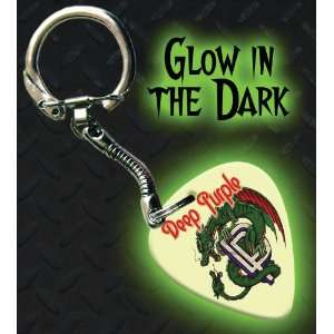 Deep Purple Glow In The Dark Premium Guitar Pick Keyring