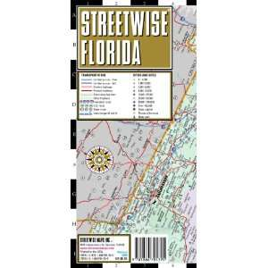 Streetwise Florida Map   Laminated State Road Map of Florida