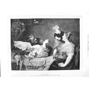 1882 ROYAL ACADEMY FINE ART GOOSE TABLE LITTLE BOY Home & Kitchen