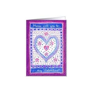 Hearts and Flowers Valentine Card Card Health & Personal