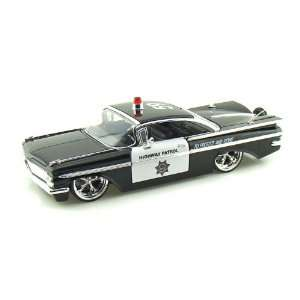 1959 Chevy Impala Highway Patrol Police 1/24  Toys & Games
